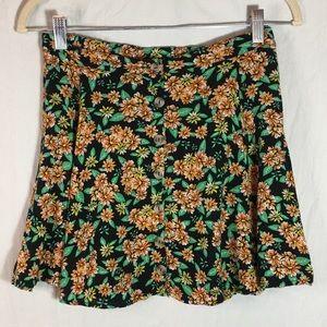 La Hearts Skirts - L.A. Hearts Button Front Floral Mini Skirt Sz S